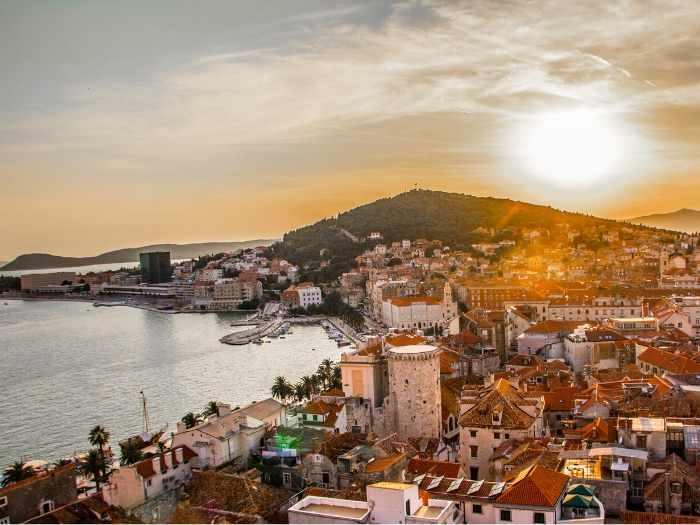 Sunset in Split town - Croatia Road Trip