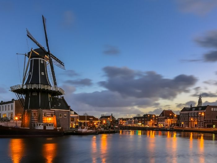 Haarlem Windmill Adriaan at night - the Netherlands