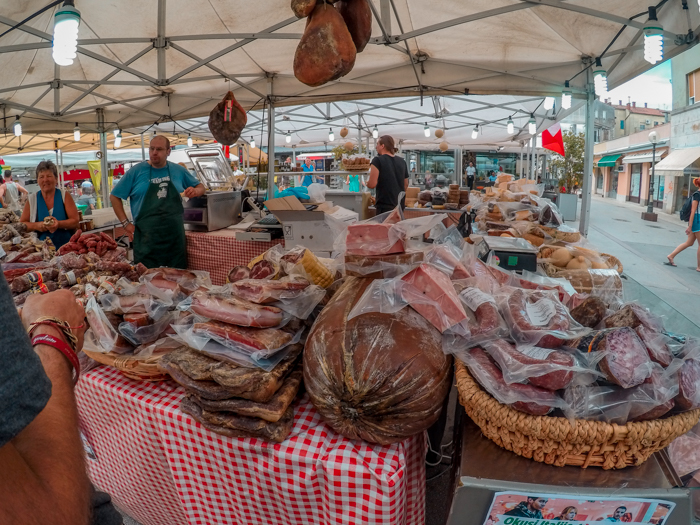 Meat in Pula Marketplace - the open food market
