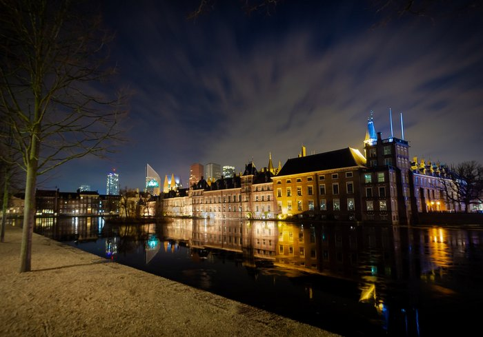 Night time in Den Haag - the Hague - Netherlands
