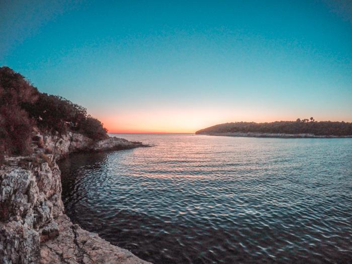 The Lovely Stoja Beach in Pula, Croatia