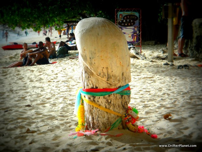One of the many phallic symbols on Phra Nang Beach, Krabi