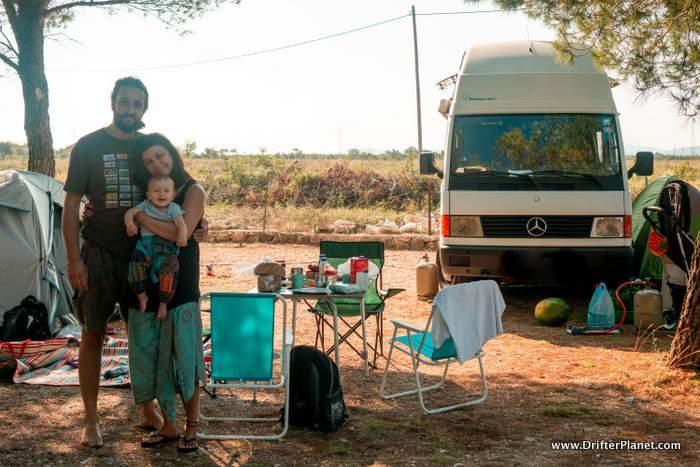 Our camping spot in Croatia