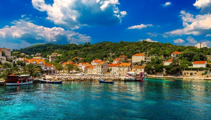 Sipan Island of the Elaphiti Islands group - easy day trip from Dubrovnik, Croatia
