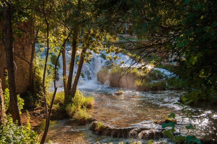 Cascades and waterfalls inside Krka National Park, Croatia