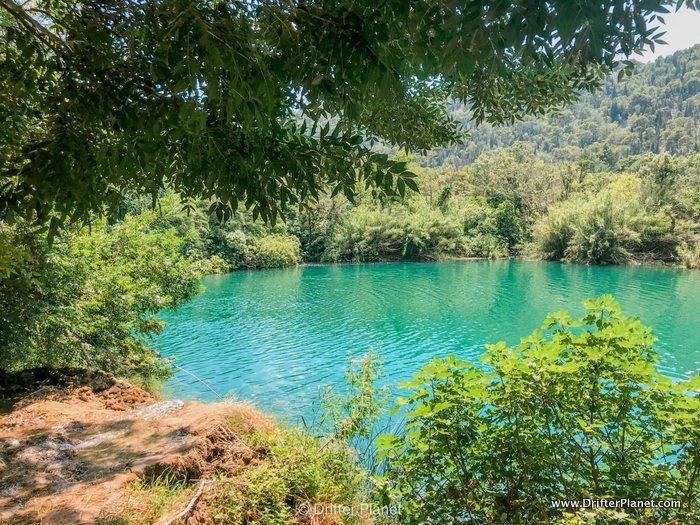 Clear Krka river in Krka national park, Croatia