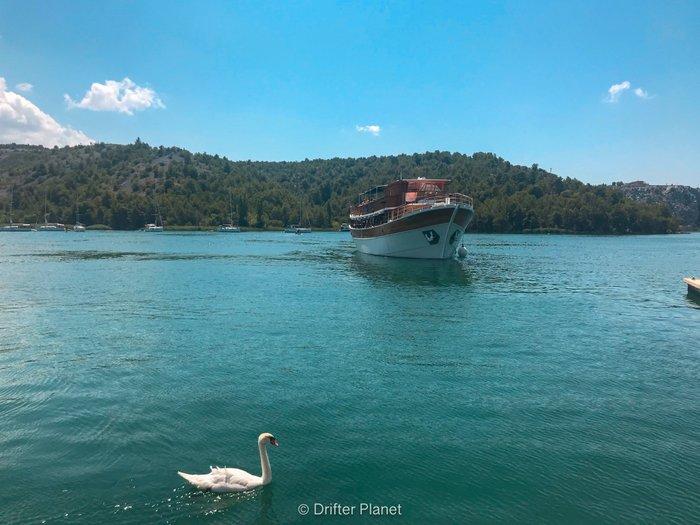 Ferry from Skradin to Skradinski Buk, Krka National Park, Croatia