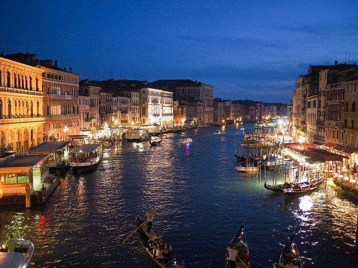 Grand Canal in Venice - Northern Italy by Train