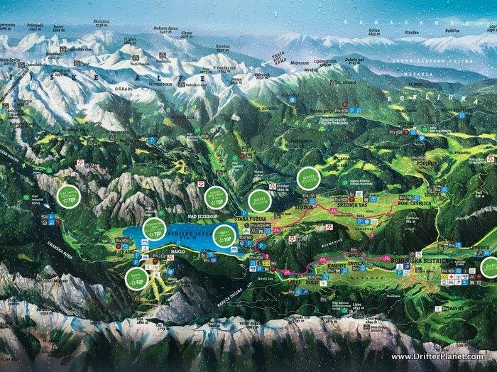 Lake Bohinj Map by Camp Zlatorog Bohinj