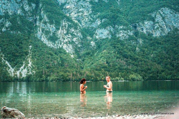 Lake Bohinj Swimming,Triglav National Park Slovenia