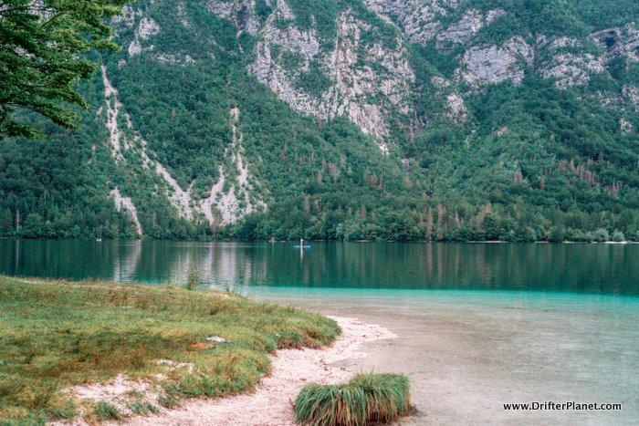 Lake Bohinj surrounded by mountains, Triglav, Slovenia