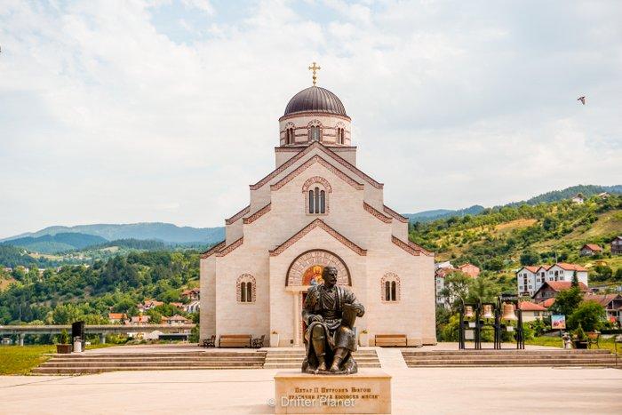 Monument inside Andrićgrad, Visegrad, Bosnia & Herzegovina