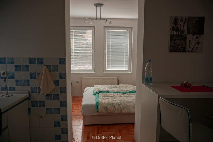 Our bedroom in Harmony Apartments, Visegrad, Bosnia & Herzegovina