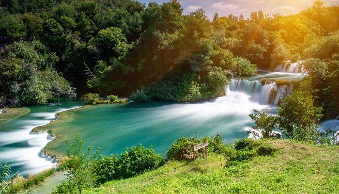 Roski Slap in Krka National Park, Croatia
