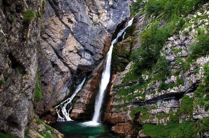Savica Waterfall near Lake Bohinj, Slovenia