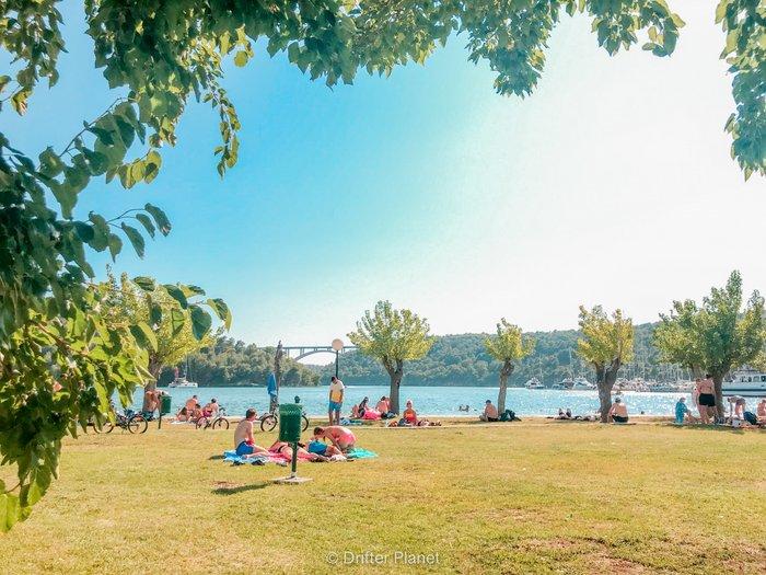 Skradin Ferry pier and river front - Krka National Park travel guide