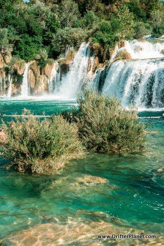 Skradinski Buk - the biggest waterfall in Krka National Park, Croatia