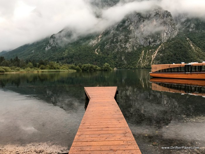 Small pier at Camp Zlatorog Bohinj - Lake Bohinj, Slovenia