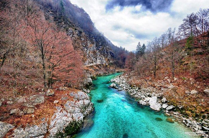 Soča River in Autumn, Slovenia