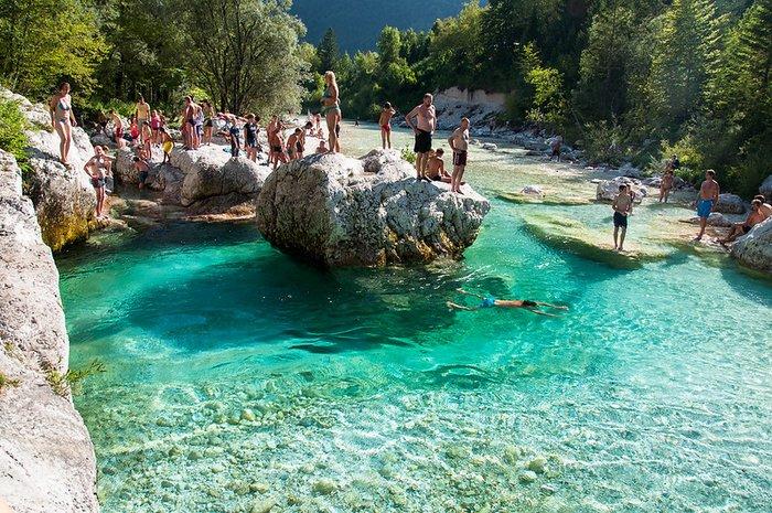 Soca River swimming, Slovenia