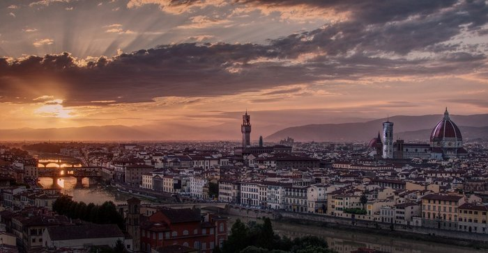 Sunset in Florence, Tuscany, Italy