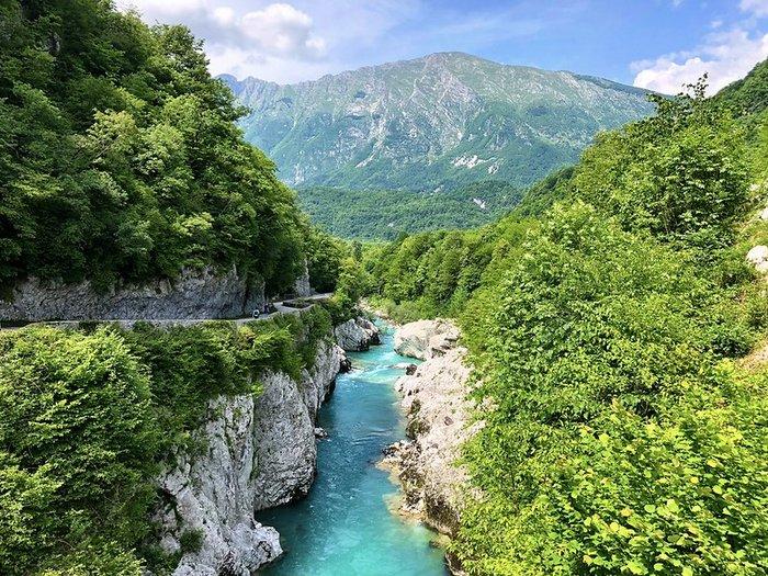 The Turqouise Soca River in Slovenia