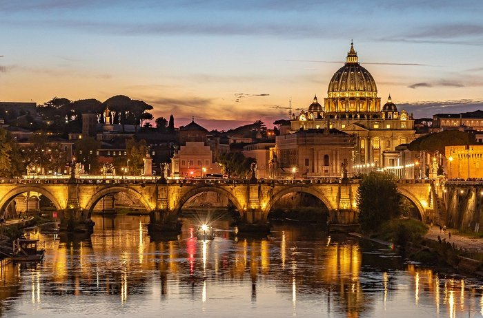 The bejeweled Rome in Italy