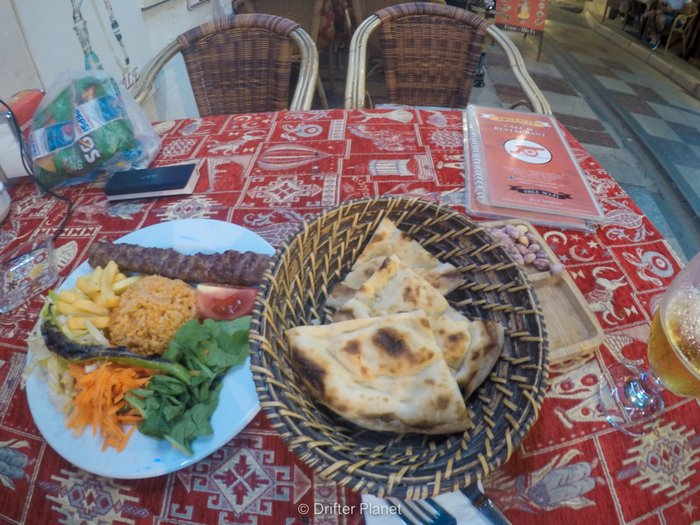 Shish Kebab with Naan - my food in Istanbul