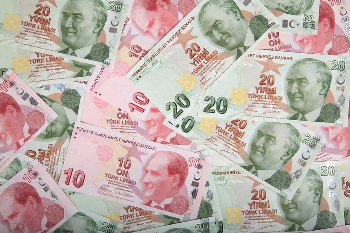 Turkish Lira notes of 10s and 20s - Currency in Turkey