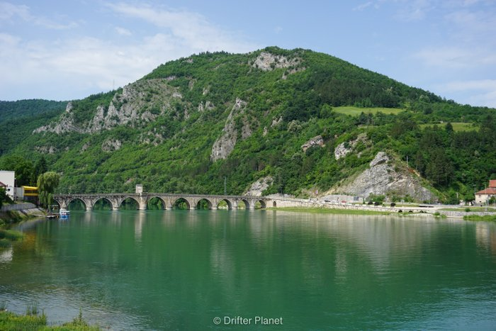 Višegrad in Bosnia-Herzegovina with Drina river