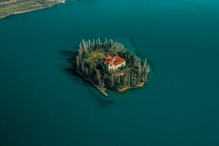 visovac island with Krka monastry, Krka National Park Croatia