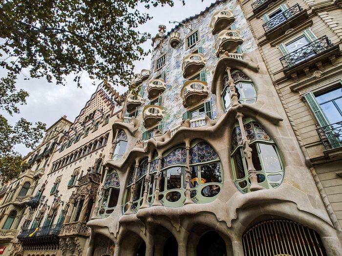 Antoni Gaudi Casa Batllo, Barcelona, Spain