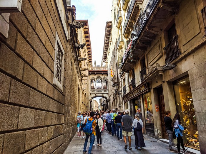 Barcelona's Crowded Gothic Quarter - Travel Tips for Barcelona