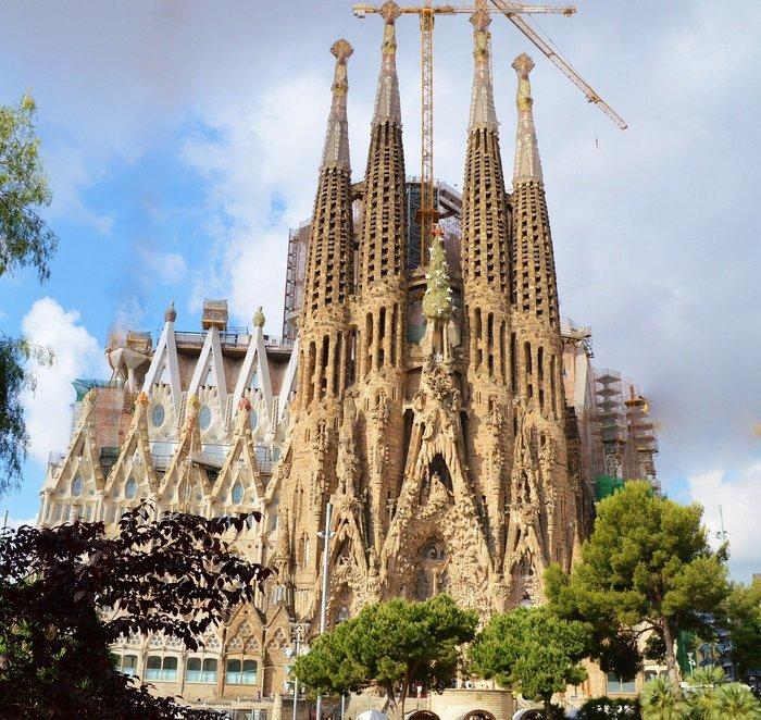 La Sagrada Familia - Gaudi's unfinished cathedral in Barcelona, Spain