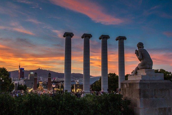 Montjuïc Sunset view - Barcelona Travel Tips