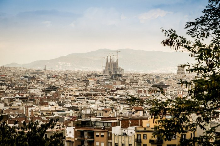 Panorama view of Barcelona with Sagrada Familia - Travel tips for Barcelona