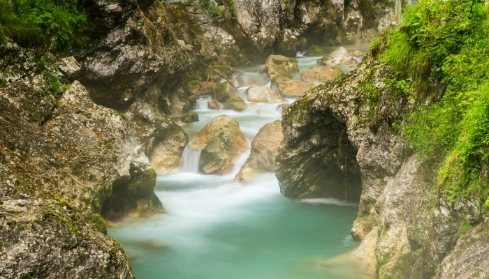 Tolmin Gorge, Triglav National Park Hiking Trails, Slovenia