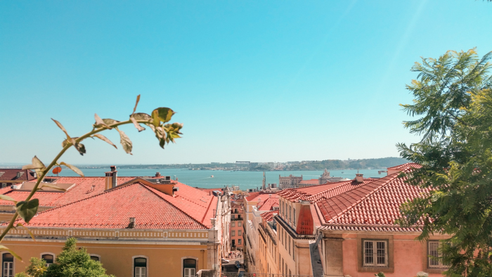 A random viewpoint in Lisbon