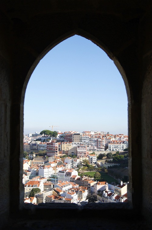 Castelo de Sao Jorge - view from Lisbon's St George castle