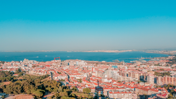 The view from Christo Rei in Lisbon