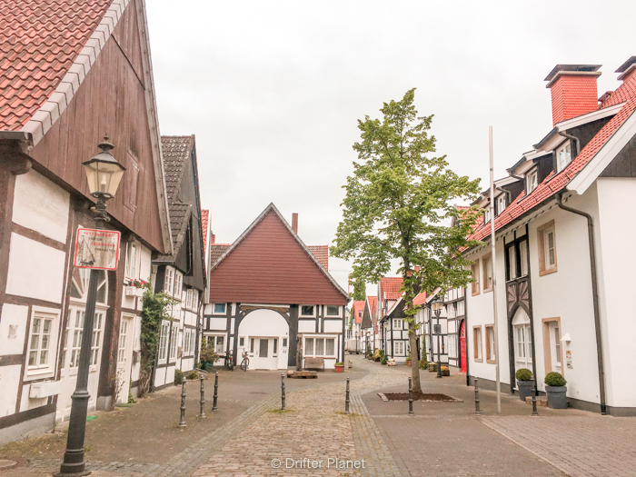 Typical Old Town in Germany with Old Towns with Fachwerkhäuser
