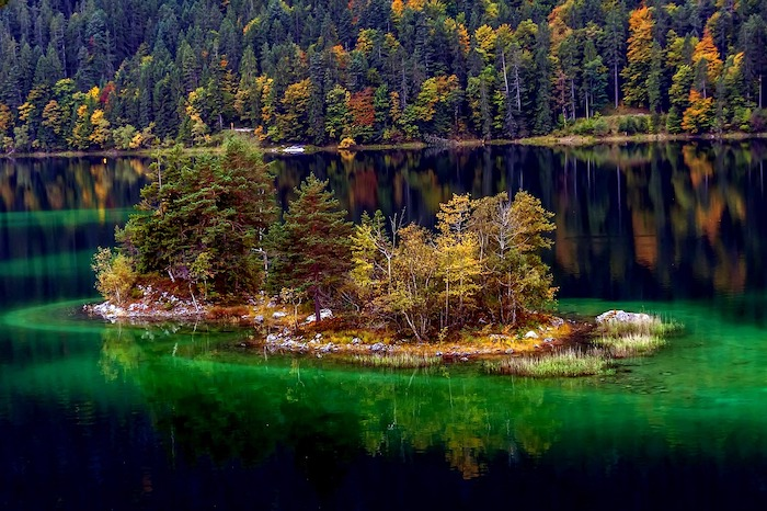 Autumn Foliage around Eibsee, Germany