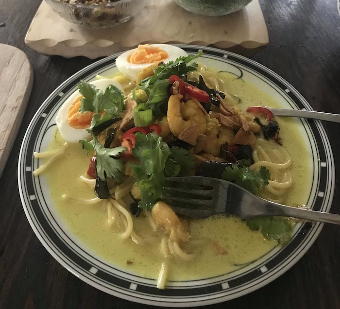 Khao Suay at home during the pandemic
